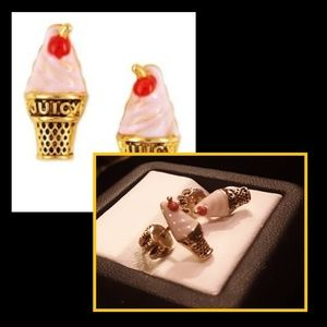 New!🍦Juicy Couture Ice Cream Cone Earrings!